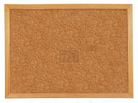 Empty cork board isolated over white background...