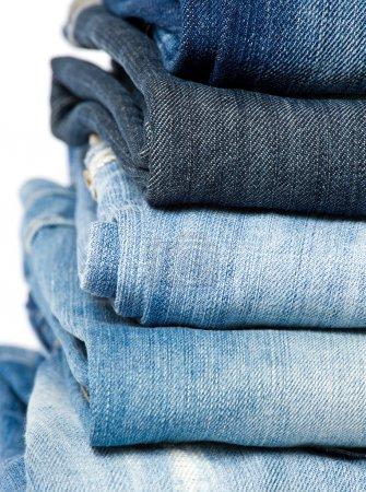 Blue denim jeans.