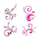 Floral vector pattern set 02