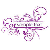 Purple vector frame with floral patterns and place for text