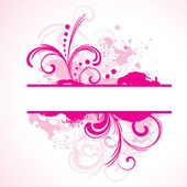 Pink vector frame with floral elements
