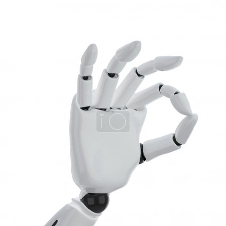 """Photo for A 3d robotic hand giving the """"okay"""" sign - Royalty Free Image"""