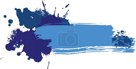 Photo for Grunge colored banner with blots - Royalty Free Image