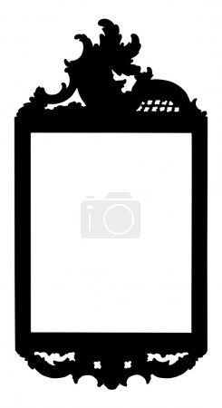 Silhouette of elegant picture frame