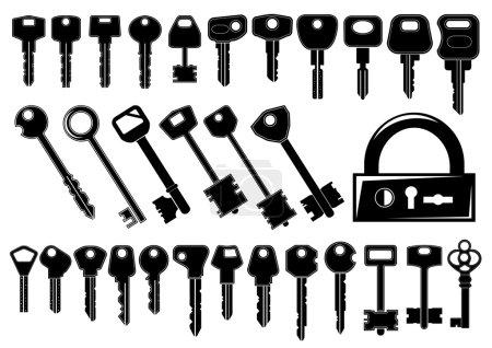 Photo pour Jeu de clés de vecteur - image libre de droit