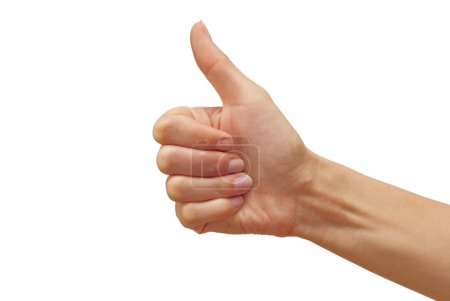 Photo for Woman's hand showing thumb up - Royalty Free Image