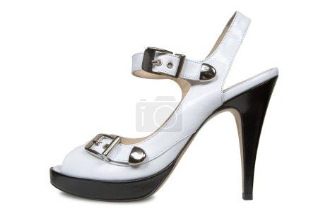Female shoes on a platform