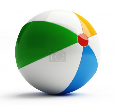Photo for Beach ball on a white background - Royalty Free Image