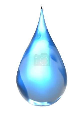 Photo for Water drop [3D Object Series] - Royalty Free Image