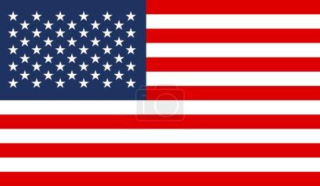 Illustration for United States Flag - Royalty Free Image