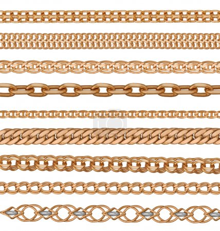 Photo for Interweaving of a gold bracelet - Royalty Free Image