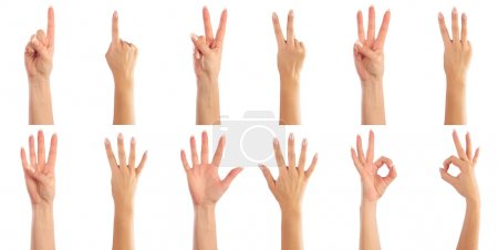 Photo for Female hands counting - Royalty Free Image