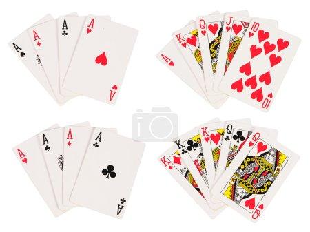 Photo pour Quelques combinaisons de gains de cartes à jouer - image libre de droit