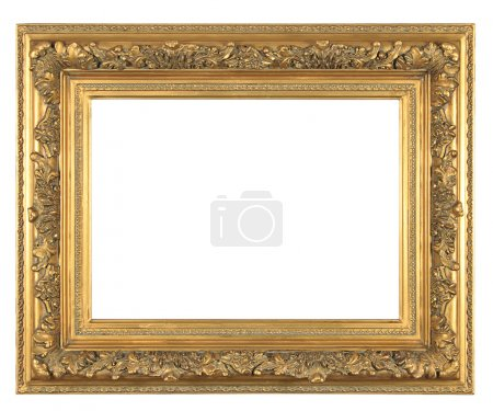 Isolated decorative bronze frame