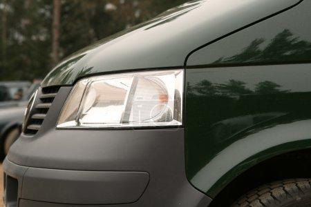 Close-up of head light.