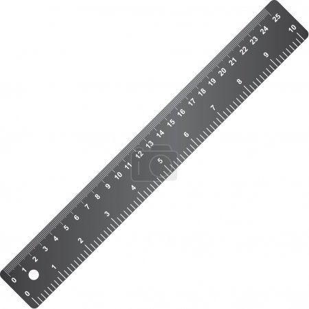 School ruler design element.