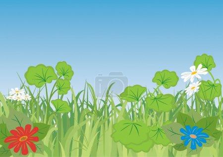Illustration for Spring landscape. Vector illustration for you design - Royalty Free Image