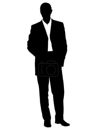 Silhouette of businessman - vector illus