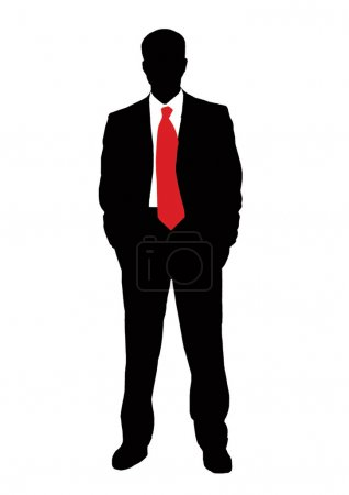 Businessman and red tie