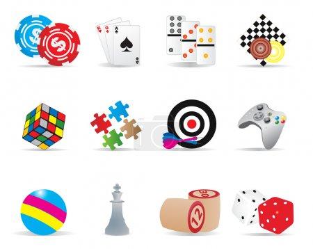 Illustration pour Icônes de jeu. Illustration vectorielle pour vous design - image libre de droit