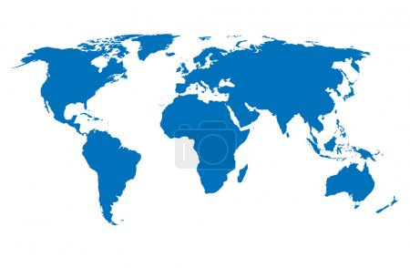 Photo for Vector World Map - Royalty Free Image