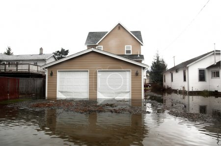 Flood in Seattle area, usa, Washington