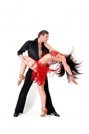 Photo pour Danseurs en action - image libre de droit