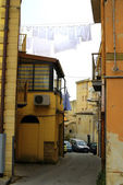 Old Italy ,Sicily, street in Enna city