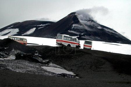 Eruption Mount Etna in Sicily