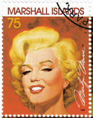 Stamp with actress Marilyn Monroe