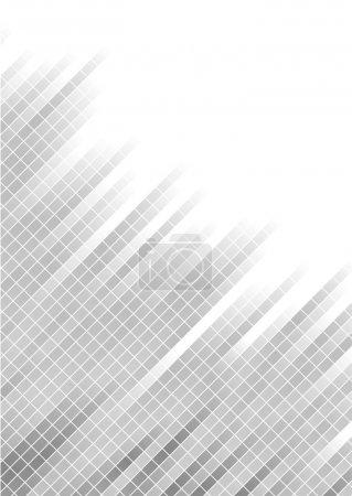 Illustration pour Arrière-plan vectoriel abstrait argenté avec carré ; clip-art - image libre de droit