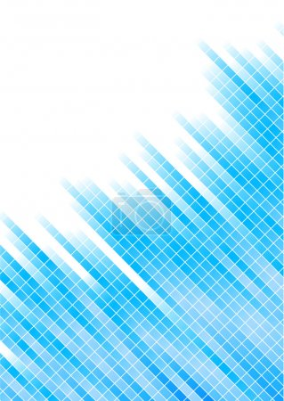Vector abstract blue background with squ