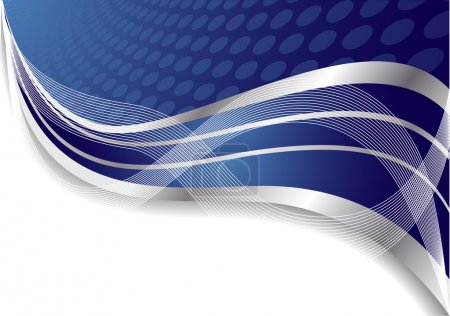 Vector abstract blue background with cir
