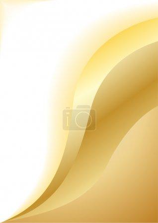 Photo pour Vecteur abstraite fond d'or; clip-art - image libre de droit