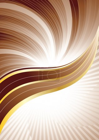 Illustration for Vector brown background; clip-art - Royalty Free Image