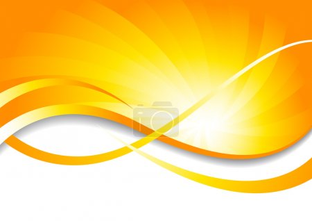 Illustration for Vector bright background in yellow color; clip-art - Royalty Free Image