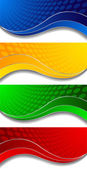 Vector collection of four bright banners