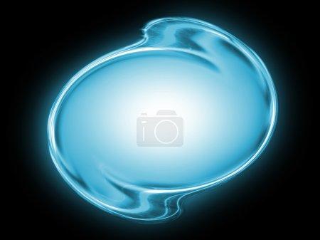 Foto de Forma abstracta azul sobre un fondo negro. - Imagen libre de derechos