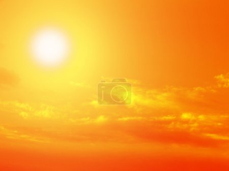 Photo for Dramatic sun, sky, clouds - Royalty Free Image