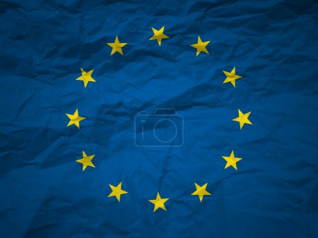 Photo for EU flag on a grunge paper background. - Royalty Free Image