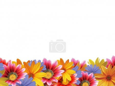 Photo for Flower frame with space for copy. - Royalty Free Image