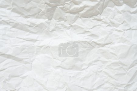 Photo for Blank white crumpled sheet paper. Texture background. - Royalty Free Image