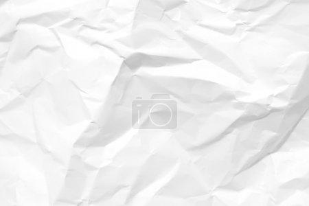Photo pour Papier blanc froissé blanc blanc. Texture fond . - image libre de droit
