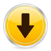 Arrow down yellow circle icon