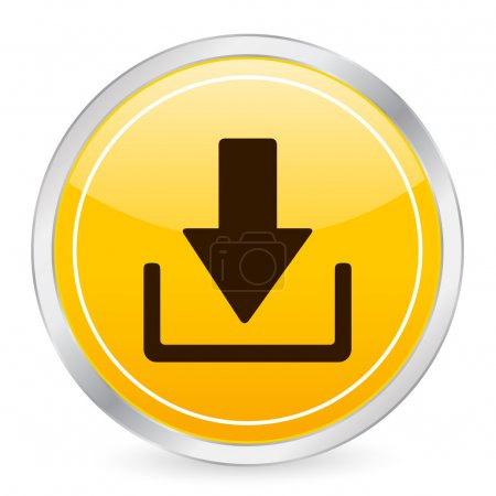 Download yellow circle icon