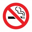 No smoking sign on a white background. Vector illu...