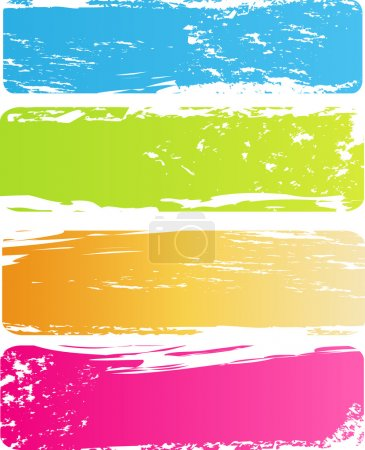 Illustration for Four old grungy multicolored banners - Royalty Free Image