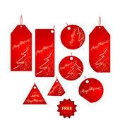 Red christmas label big set