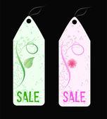 Two grunge florals sale shop tags
