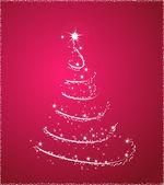 Růžové vánoční strom